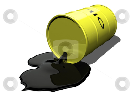 Oil spilling 1 stock photo, Oil spilling 1 on a white background by John Teeter