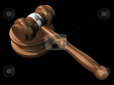 3D Gavel 2 stock photo, 3D Gavel 2 on a black background by John Teeter