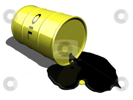 Oil spilling 2 stock photo, Oil spilling 2 on a white background by John Teeter