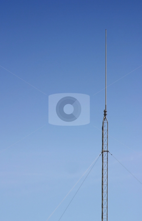 Antenna stock photo, Radio antenna with the blue sky as a background by Henrik Lehnerer