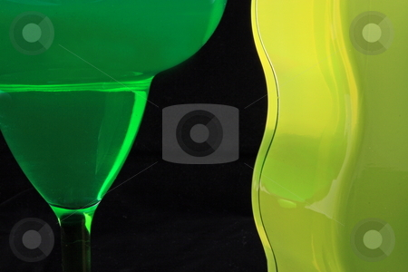 Margarita Abstract stock photo, Sapes and lines of Margarita bottle and glass with balck background by Jack Schiffer