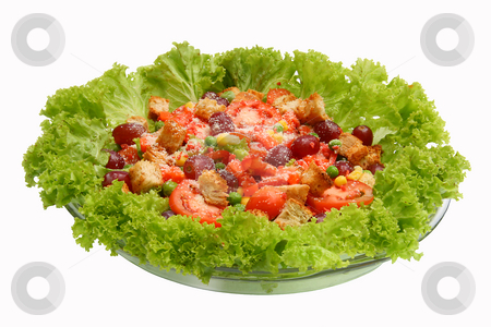 Salad 3 stock photo, Fresh leafy green salad in a bowl by Jonas Marcos San Luis