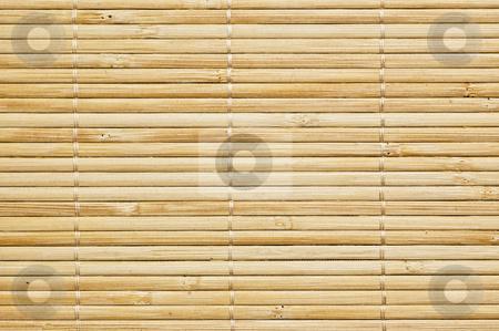 Bamboo mat background stock photo, Bamboo mat background, close up shot. by Pablo Caridad