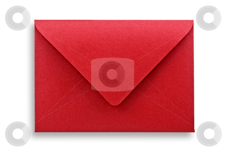 Red Envelope stock photo, Red envelope isolated on white background with clipping path by Pablo Caridad
