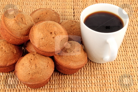Pumpkin spice and muffins stock photo, Pumpkin spice muffins with coffee by Jack Schiffer