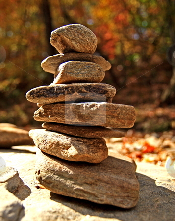 Rocks stock photo, Pilled up rocks on natures background by Jack Schiffer