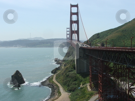 Golden Gate Bridge stock photo, The Golden Gate Bridge is one of the most photographed bridges in the world and a symbol of freedom and the USA. by Dennis Thomsen