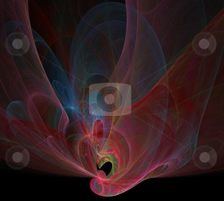 Fractal - 34 colorful stock photo, Beautiful flows of different color build this fractal by Henrik Lehnerer