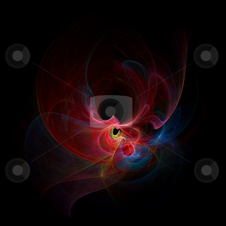 Fractal - 33 colorful stock photo, Beautiful flows of different color build this fractal by Henrik Lehnerer