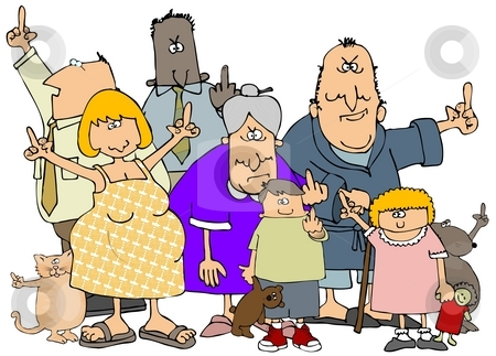 Upset People stock photo, This illustration depicts an assortment of people by Dennis Cox