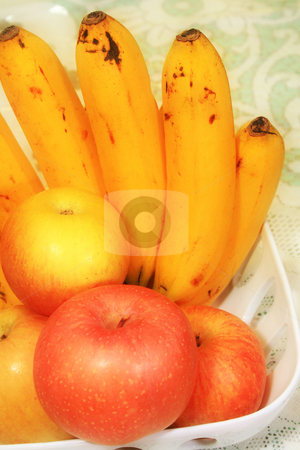 Table fruits stock photo, Table fruits consisting of apples and bananas by Jonas Marcos San Luis