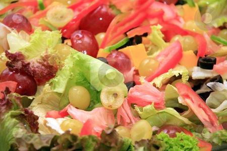 Caesar salad stock photo, Fresh leafy green caesar  salad in a bowl by Jonas Marcos San Luis