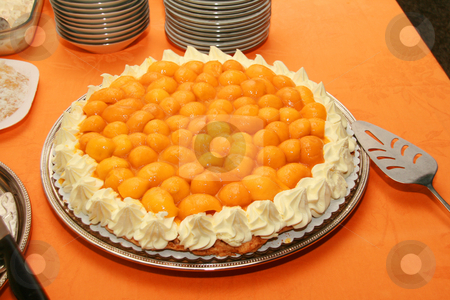 Mango torte cake stock photo, Sweet mango torte cake served as dessert by Jonas Marcos San Luis