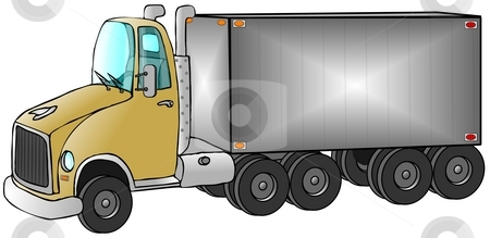Delivery Truck stock photo, This illustration depicts a large delivery truck. by Dennis Cox