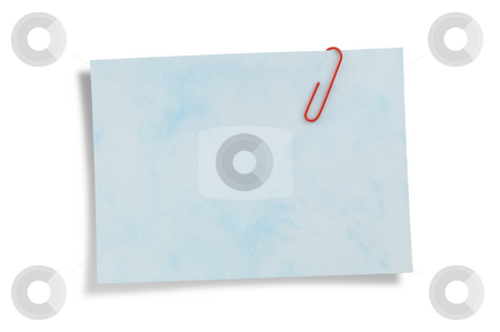 Reminder note paper with cllip, path provided. stock photo, Reminder note paper with cllip, isolated on white background, clipping path provided. by Pablo Caridad