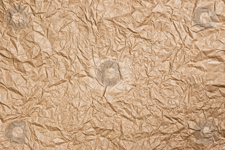 Crumpled paper texture. stock photo, Old rough crumpled paper texture close up. by Pablo Caridad
