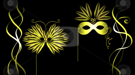 Masquerade Illustration stock photo, Masquerade illustration by John Teeter