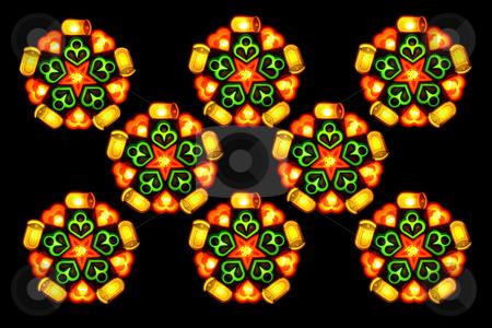 Christmas lantern 2 stock photo, Eight lighted christmas lantern isolated on black background by Jonas Marcos San Luis