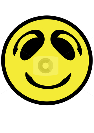 Smiley face that is isolated on white stock photo, Smiley face that is isolated on white by Petr Koudelka