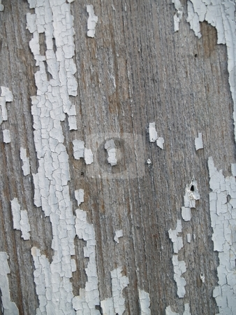 Chipping paint on old wood stock photo, Old chipped paint on some wood taken close up great texture or background by Michelle Bergkamp