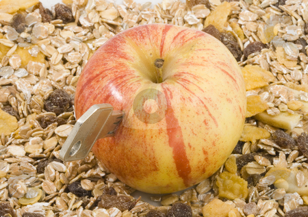 Key To Health stock photo, An apple a day keeps the doctor away by Petr Koudelka