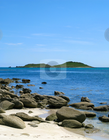 Looking at the Eastern Islands from St. Martins, Isles of Scilly stock photo, Looking at the Eastern Islands from St. Martins, Isles of Scilly. by Stephen Rees