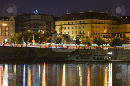 Prague by Night stock photo, Cityscape of Prague by night - night city by Petr Koudelka