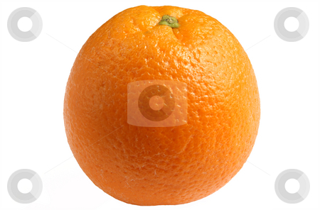 An orange isolated on a white background. stock photo, An orange isolated on a white background. by Stephen Rees