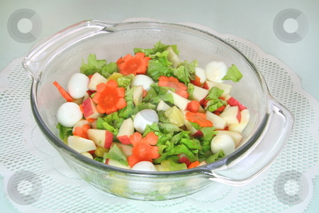 Salad 2 stock photo, Fresh leafy green salad in a bowl by Jonas Marcos San Luis