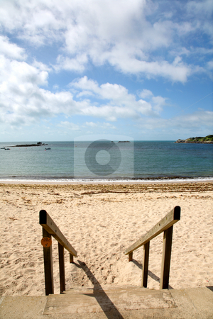 Going to Porthcressa beach, St. Mary's, Isles of Scilly. stock photo, Going to Porthcressa beach, St. Mary's, Isles of Scilly. by Stephen Rees