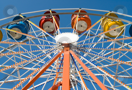 Ferris Wheel stock photo, A low angle view of a large ferris wheel by Richard Nelson