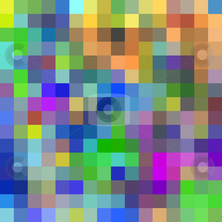 Large colorful pixels background. stock photo, Large colorful pixels background. by Stephen Rees