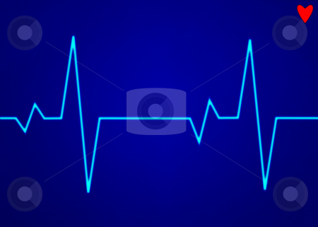 Electronic cardiogram ECG heart beat trace on a monitor. stock photo, Electronic cardiogram ECG heart beat trace on a monitor. by Stephen Rees