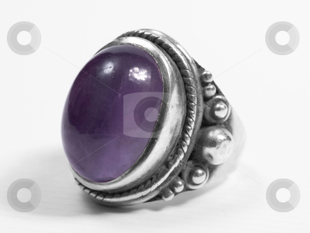 Purple ring stock photo, Purple big ring on white isolated background by Adrian Costea