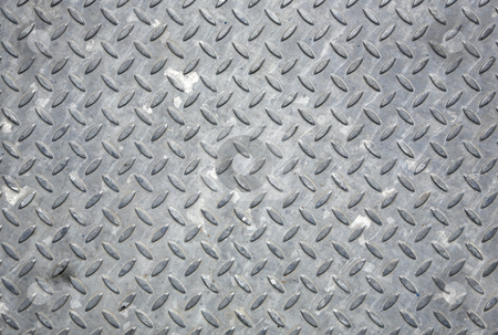 Dirty metal floor cover close up background. stock photo, Dirty metal floor cover close up background. by Stephen Rees