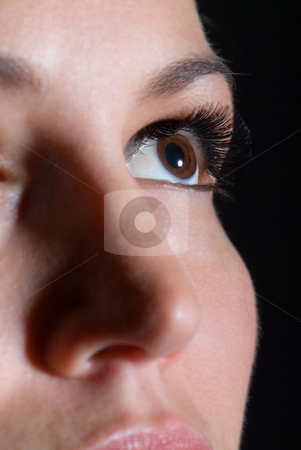 Closeup of an attractive woman stock photo, Closeup of an attractive woman by Vince Clements