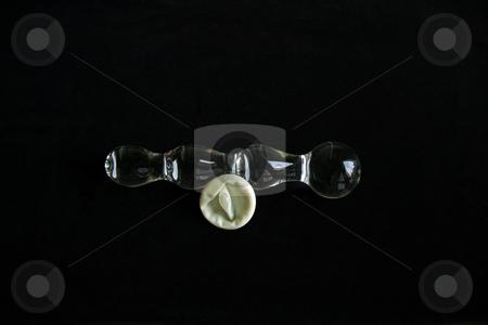 Glass Sex Toy on black