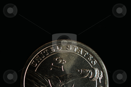 United States Coin stock photo, The words United States printed on a dollar coin by Kevin Tietz