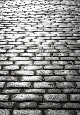 Wet cobblestones, St. Ives, Cornwall UK. stock photo, Wet cobblestones, St. Ives, Cornwall UK. by Stephen Rees