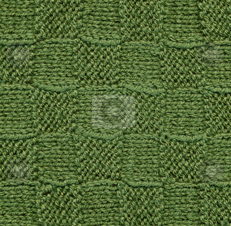 Green knitted wool pattern texture background stock photo, Green knitted wool pattern texture background by Stephen Rees
