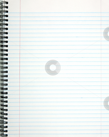 White lined notepad page. stock photo, White lined notepad page. by Stephen Rees