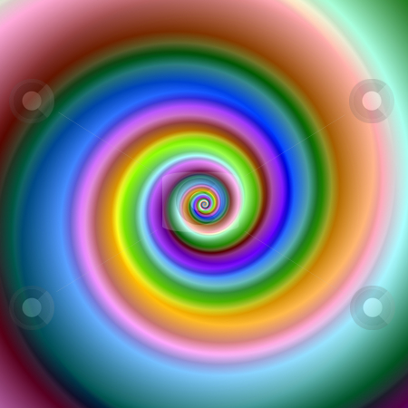 Bright colorful fractal swirl image. stock photo, Bright colorful fractal swirl image. by Stephen Rees