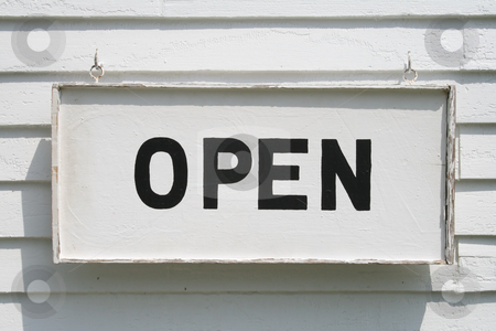 Vintage Open Sign stock photo,  by Tom and Beth Pulsipher