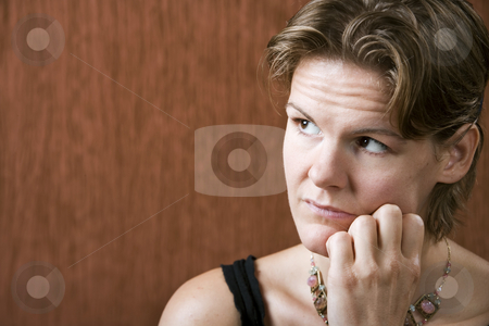 Pretty Woman stock photo, Attractive woman with a neutral look on her face by Scott Griessel
