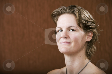 Confident Woman stock photo, Portrait of a confident woman in a studio setting by Scott Griessel