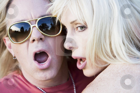 Rock and Roll Couple stock photo, Close up of a wild rock and roll couple by Scott Griessel