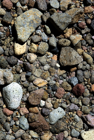 Volcanic (igneous)  Rock Background stock photo, Multi colored volcanic rock background also know as igneous rock. by Lynn Bendickson