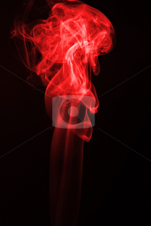 Red flame stock photo, Red flame smoke on black background by Jonas Marcos San Luis