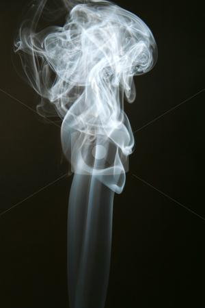 White smoke stock photo, Thick white smoke on black background by Jonas Marcos San Luis