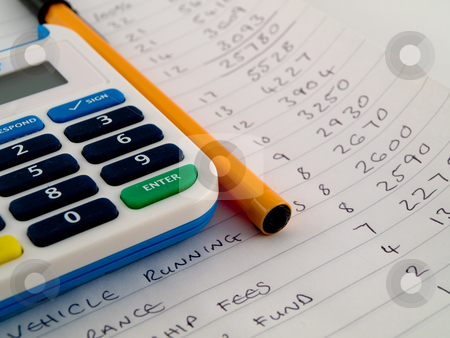 Calculator pen and paper